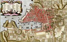 Reproduction plan ancien - Marseille vers 1700