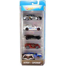 Hot Wheels Batman V Superman VEHÍCULO DE DIECAST ESCALA 1:64 5-Pack de coches (DJD23)