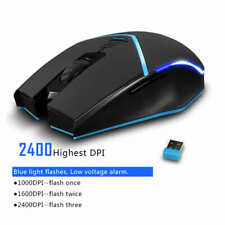 Zelotes F-12 Wireless Mouse with Receiver 2400DPI Portable Mice for Desktop