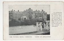 The Victoria Hotel Sidmouth Advertising Postcard, A998