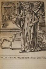 GRAVURE BELGIQUE PHILIPPUS BONUS BRABANT VEEN COLLAERT 1623 OLD PRINT R1003