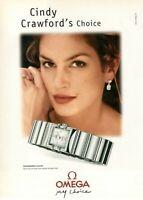 2000 Cindy Crawford Advertising' Omega Watch Constellation Carre' Diamond