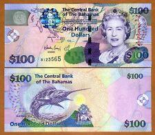 Bahamas, 100 dollars, 2009, Pick 76, QEII, UNC > Colorful