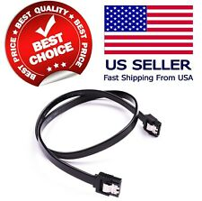 "18"" SATA 3.0 Cable 6GB/s w/ locking clip for SATA DVD HDD Hard Drive Black NEW"