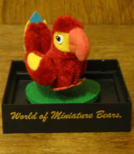 World of Miniature Bears #776 RED/GOLD PARROT, by Becky Wheeler From Retail Shop