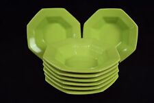 8 Limerick Ironstone berry bowls Independence Interpace Japan lime green 1970's