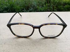 NEW SAINT LAURENT BIG PLASTIC EYEGLASSES FRAME 58-16-145 ITALY NEW