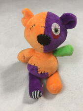 Ganz Zombiology Teddy Bear Plush Stuffed Animal Orange Purple Green HW10669