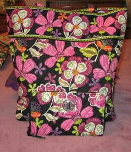 VERA BRADLEY Pirouette Pink TOTE & TURNLOCK WALLET Set QUILTED Shoulder Bag