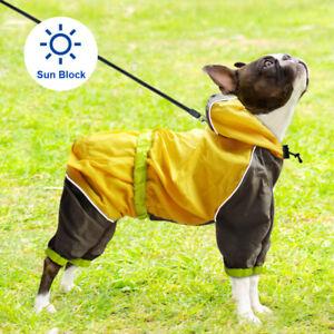 Sun Rain Protection Dog Raincoat Reflective Winter Dog Clothes Jumpsuit Jacket