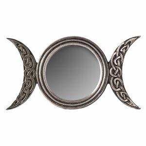 Witch Moon Mirror Vanity Wall Gothic Decor Goddess Pagan Salem Magic Celestial