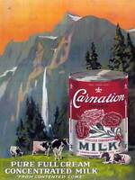 COMMERCIAL ADVERT CARNATION MILK COWS UK POSTER ART PRINT HOME PICTURE BB1715A