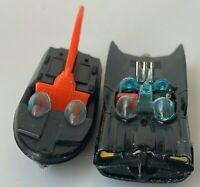 Vintage Toys Die Cast Batmobile Boat Made in GT Britain. Batman & Robin