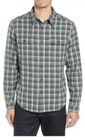 🔥 UGG Men's Anders Flannel Shirt Plaid Green Blue White NWT $95 • Sz L Large