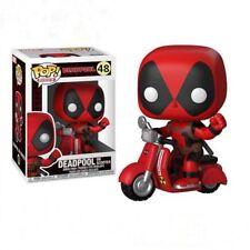 Avenger Deadpool Ride motorcycle Vinyl Figure Funko Pop Kids Toys Gift Box