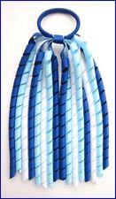 DARK ROYAL LIGHT BLUE WHITE SCHOOL UNIFORM KORKER HAIR PONYTAIL BOBBLE STREAMER