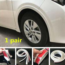 2pcs Universal White Car Flare Protector Wheel Strip Fender Arch Lip Eyebrow New