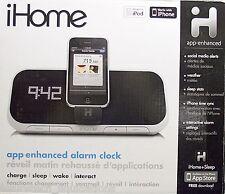 IHOME iA5 APP ENHANCED ALARM CLOCK FOR iPOD / iPHONE - iA5BVC