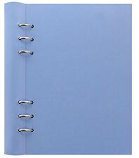 Filofax A5 Clipbook Pastel VISTA Bleu Rechargeable Portable Binder Aspect Cuir