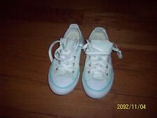 Girls' Light Green Converse All Star Low Top Dbl Tongue Sneakers Size 2Junior