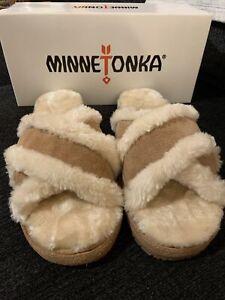 Minne Tonka Ladies Wildflower Crossband Cinnamon Indoor/outdoor Slipoer Sz 10
