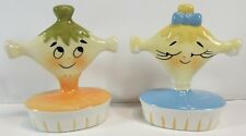 Vintage Holt Howard PIXIE PIXIEWARE Anthropomorphic Salt & Pepper Shakers SET