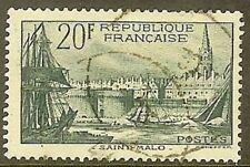 "FRANCE TIMBRE STAMP N° 394 "" PORT DE SAINT MALO 20F "" OBLITERE TB"