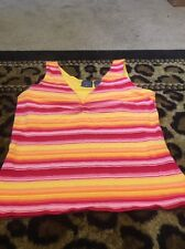 Mountain Lake Women's Casual Active Shirt Sz L Sleeveless Top MultiColor Clothes
