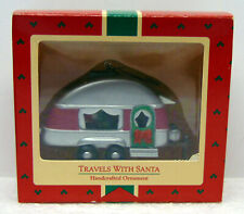 Hallmark 1988 Christmas Ornament - Travels With Santa Trailer Camper