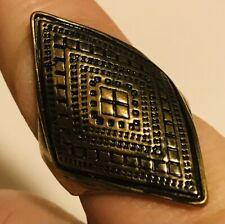 Engraved Design 14K Gold Ring Size 8Us/Puk Pretty and Custom Made Art Deco Era