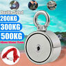 200/300/500KG Double Side Neodymium Metal Magnet Detector Rope 10M Kit Fish L2Y1