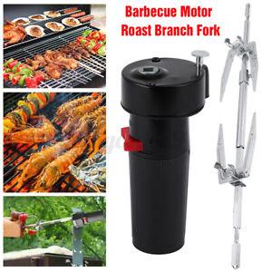 Electric BBQ Rotisserie Grill Roast Rod Spit Universal Kit Motor Meat Skewer USA