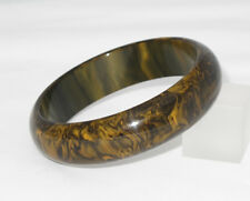 Vintage Bakelite Bracelet Bangle rare honey chocolate marble color