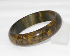 Vintage Bakelite Bracelet Bangle rare honey chocolate marble color