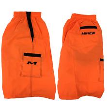 Miken Microfiber Shorts ORANGE/BLACK EXTRA LARGE
