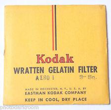 "Kodak Aero 1 Wratten Gelatin Filter - 76mm x 76mm 3x3"" Square - NEW Old Stock UG"