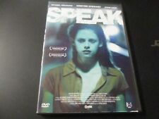 "RARE! DVD ""SPEAK"" Kristen STEWART, Michael ANGARANO, Steve ZAHN"