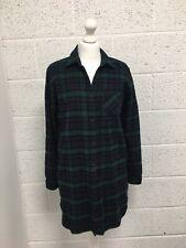 JACK WILLS - Women's - Shirt Dress - Green & Navy Tartan - Long Sleeved - UK 10