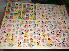 Vtg Lot Of 6 Disney Mickey Mouse & Friends Calendar Event Sticker Sheets Unused