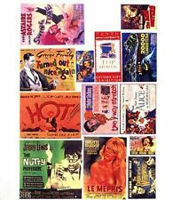 More details for theatre posters small paper copy enamel signs smf43 colour oo scale model decals