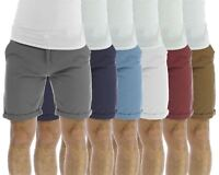 Brave Soul Smith Mens Chino Shorts Cotton Canvas Roll Up Summer Pants