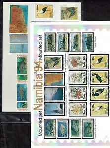 Namibia 1993 Butterfly set and 1994 year set. Mint unmounted.