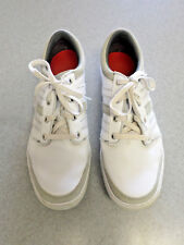 """Adidas """"Adicross"""" white leather, spikeless golf shoes. Men's 11.5 (eur 46)"""