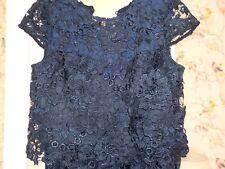 Lipsy Vip Blue Lace Shift Dress Uk 10 Christmas Party