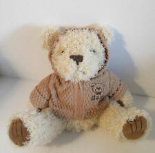 "Ivory Curly Baby Teddy Bear with Jacket 10"" Royal Plush Toys Stuffed Animal"