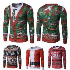 Unisex Santa Ugly Sweater Sweatshirt Jumper Christmas 3D Xmas Fancy Pullover Top