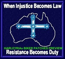 "EUREKA FLAG in AUS MAP ""RESISTANCE...""  VEST PATCHES"