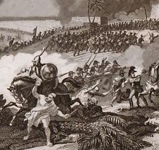 Gravure XIXe Campagne Egypte Sedyman Samanhoud  Napoleon Bonaparte Empire 1835