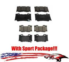 Front and Rear Ceramic Brake Pads for Infiniti Q50 14-17 With Sport Package