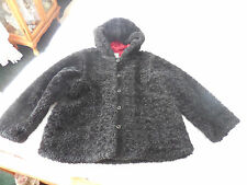Gymboree Faux Fur Black Jacket  Sz. 7  EUC